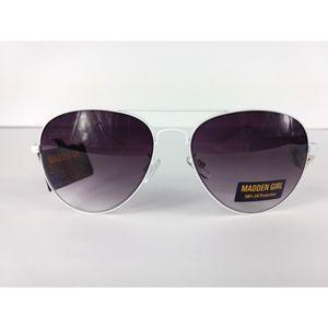 NWT Madden Girl White Aviator Sunglasses